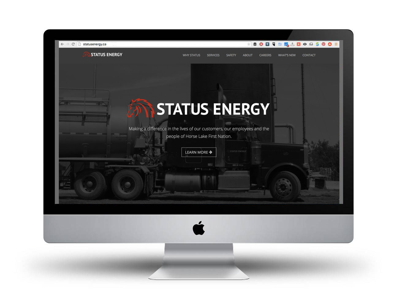 Status Energy website